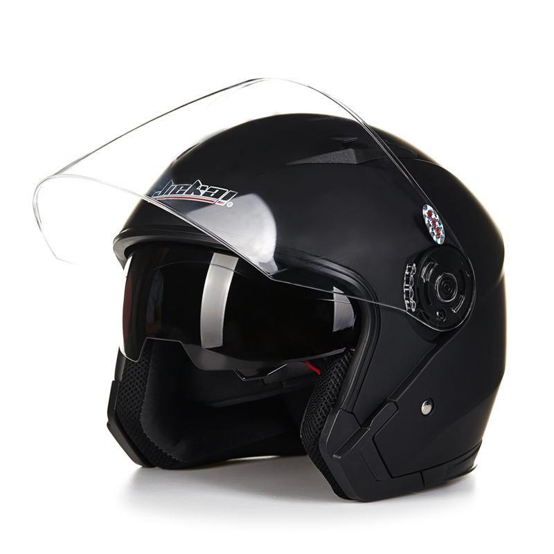 Casco Vintage Moto Open Face Double Visor Helmet In 2020 Vintage Helmet Scooter Helmet Motorcycle Helmets