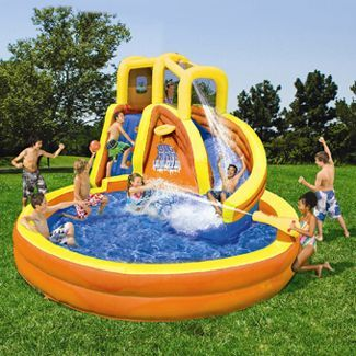 Genial Banzai Typhoon Twist Inflatable Water Slide