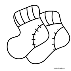 Black And White Baby Socks Clipart Free Baby Stuff Baby Socks Clipart Clip Art