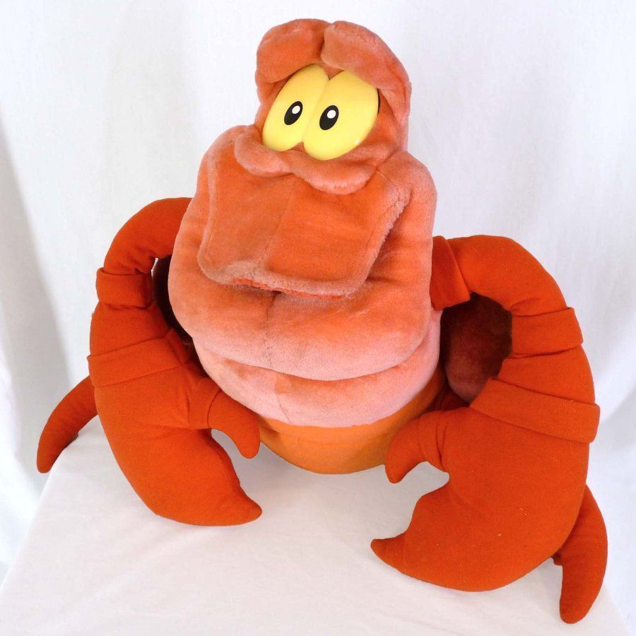Uncategorized Crab Little Mermaid sebastian crab plush little mermaid stuffed mattel 20 large disney