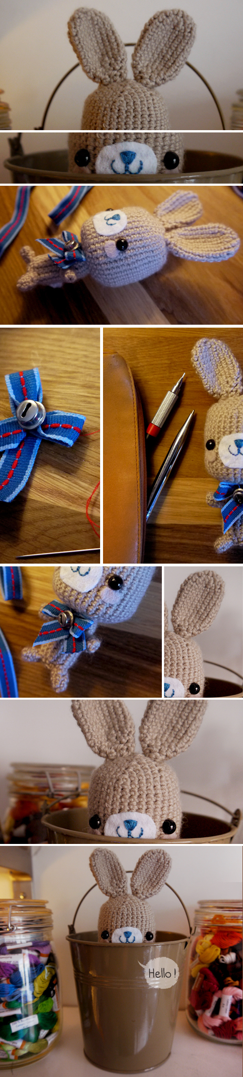 I've crocheted this cute little bunny for a friend (: