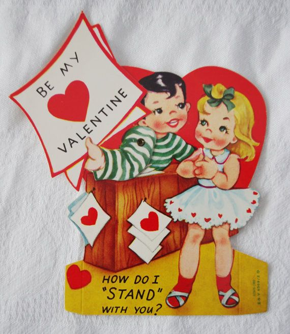 Vintage Valentine: Mechanical Boy and Girl with by soldiersuzanne