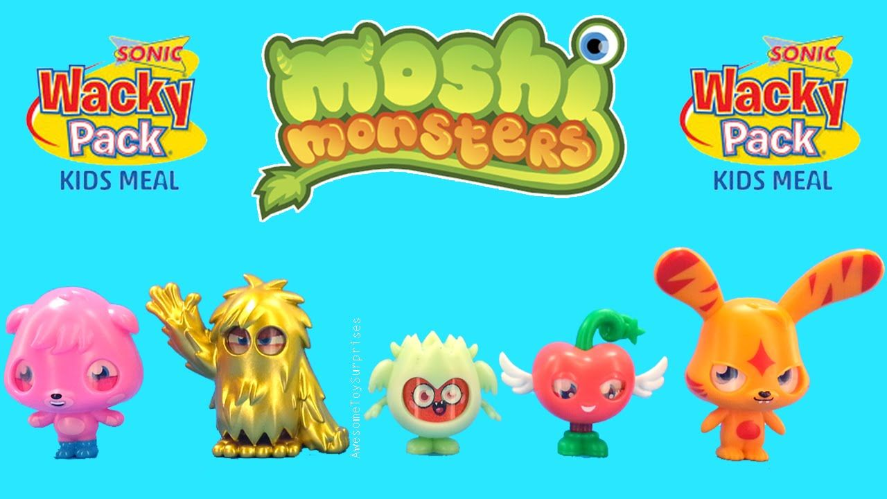Moshi Monsters Sonic Wacky Pack Kids Meal Toys Moshimonsters Toys