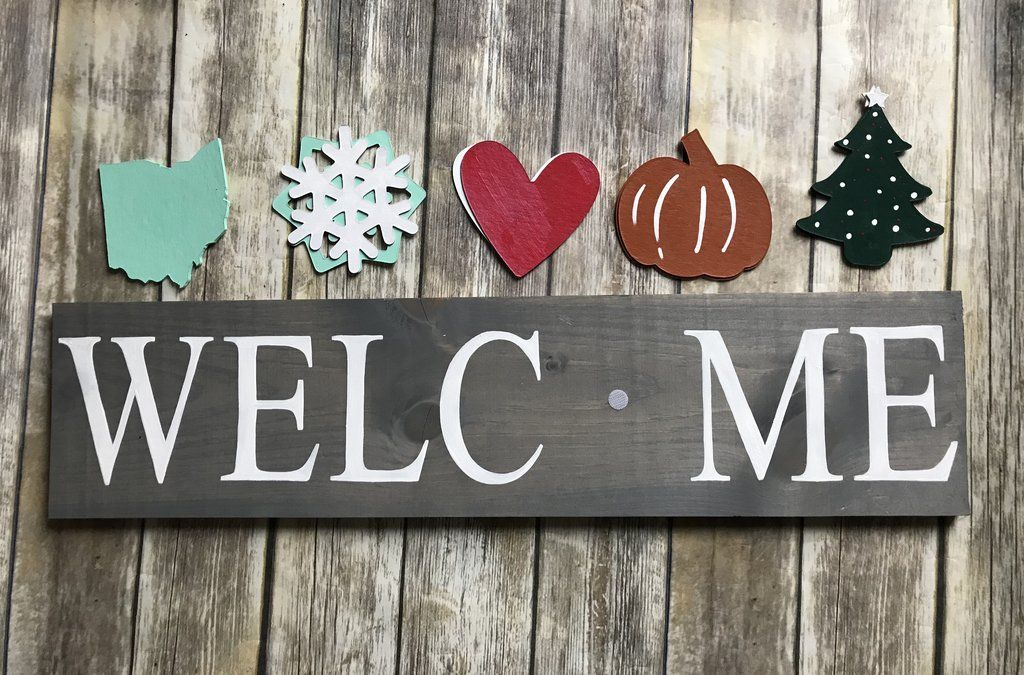 welcome signs diy - 1024×675