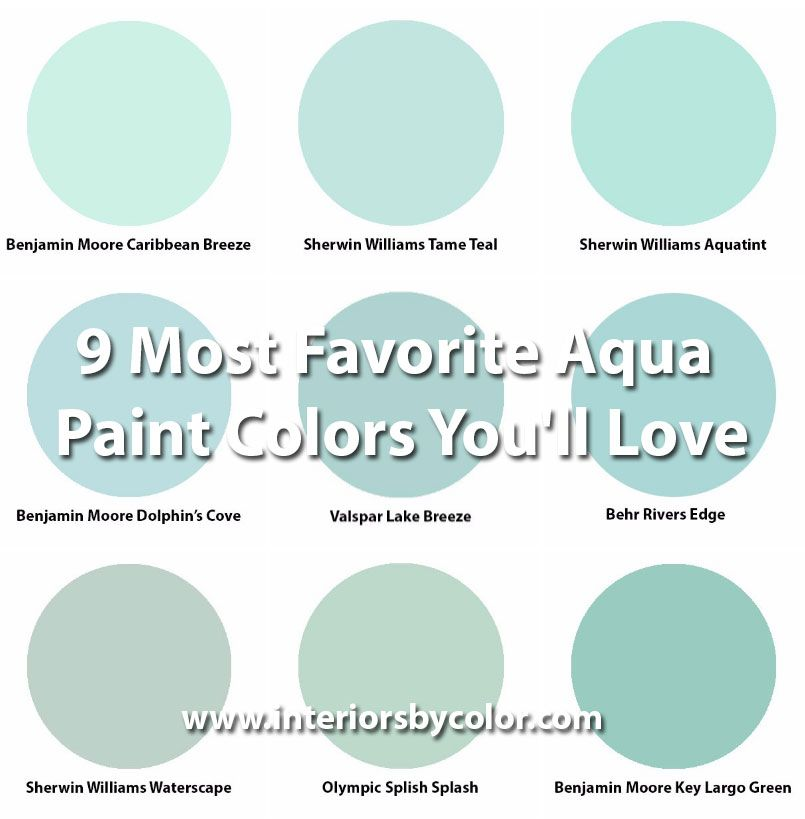 aqua paint color9 Most Favorite Aqua Paint Colors Youll Love httpwww