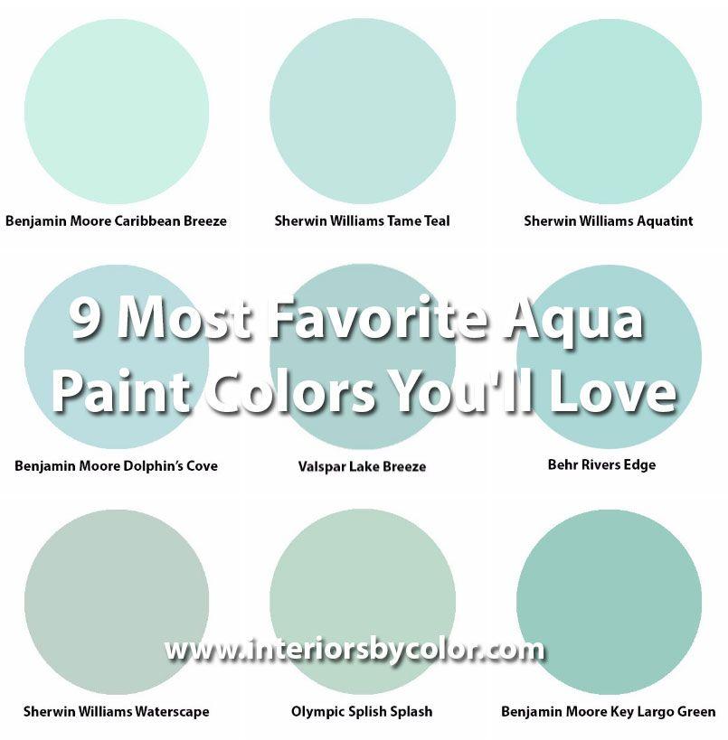 9 Most Favorite Aqua Paint Colors You\u0027ll Love Bathroom Pinterest