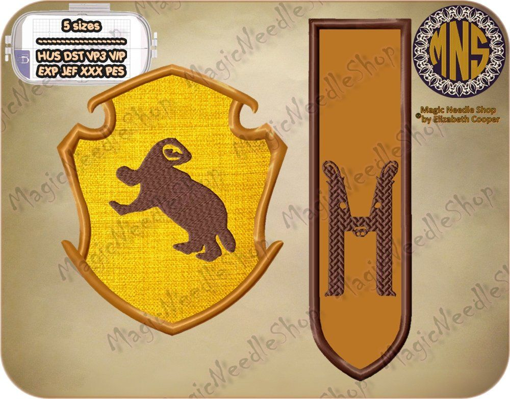 Harry potter patch hufflepuff house crest embroidered iron on
