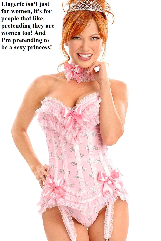 corset pink Gay sissy