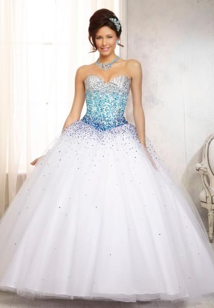 Vizcaya Quinceanera Tulle Skirt Dress 88086 | Prom, Peach and Turquoise
