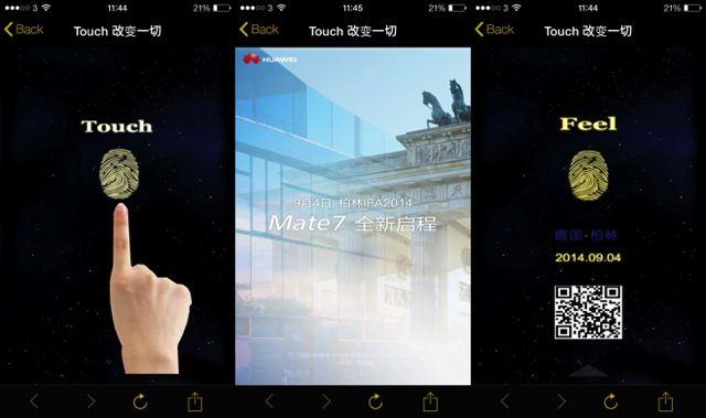 Novedad: Huawei Ascend Mate 7 sólo se podrá desbloquear con nuestra huella dactilar