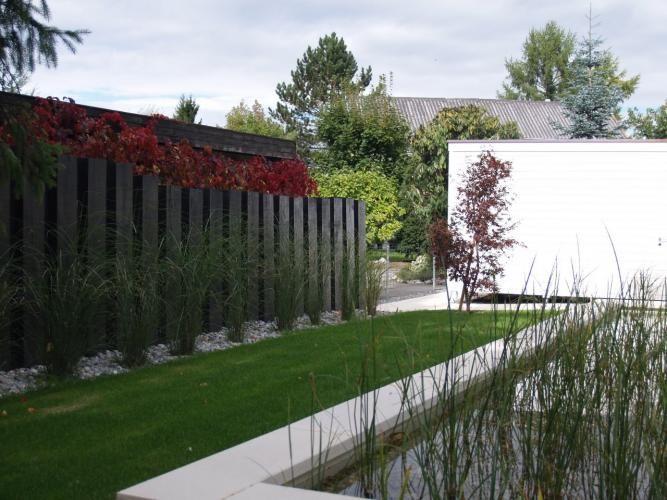 Holzwand Garten + Vorgarten Pinterest Holzwand, Sichtschutz - gartengestaltung modern sichtschutz