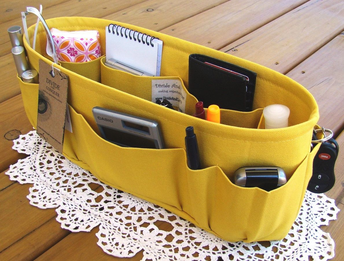 Purse ORGANIZER insert SHAPER / Yellow / Available in 5