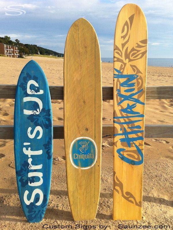 Surf Signs Decor Brilliant Saunzee Custom Original Wood Surfboard Signs Surf Decor Custom 2018