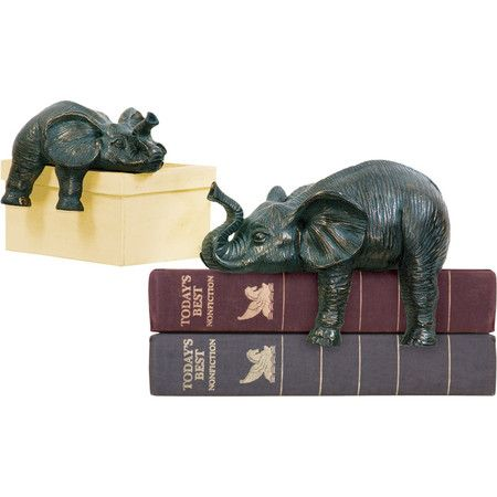 Finchley Elephant Statuette (Set of 2)