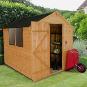 8x6 Forest Apex Shiplap Wooden Shed With Assembly Service Wooden Sheds Building A Shed Shed