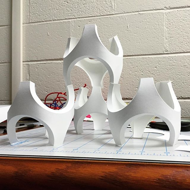 uc concept architectural design ltd.  curvy cellular material concept curved folding design art
