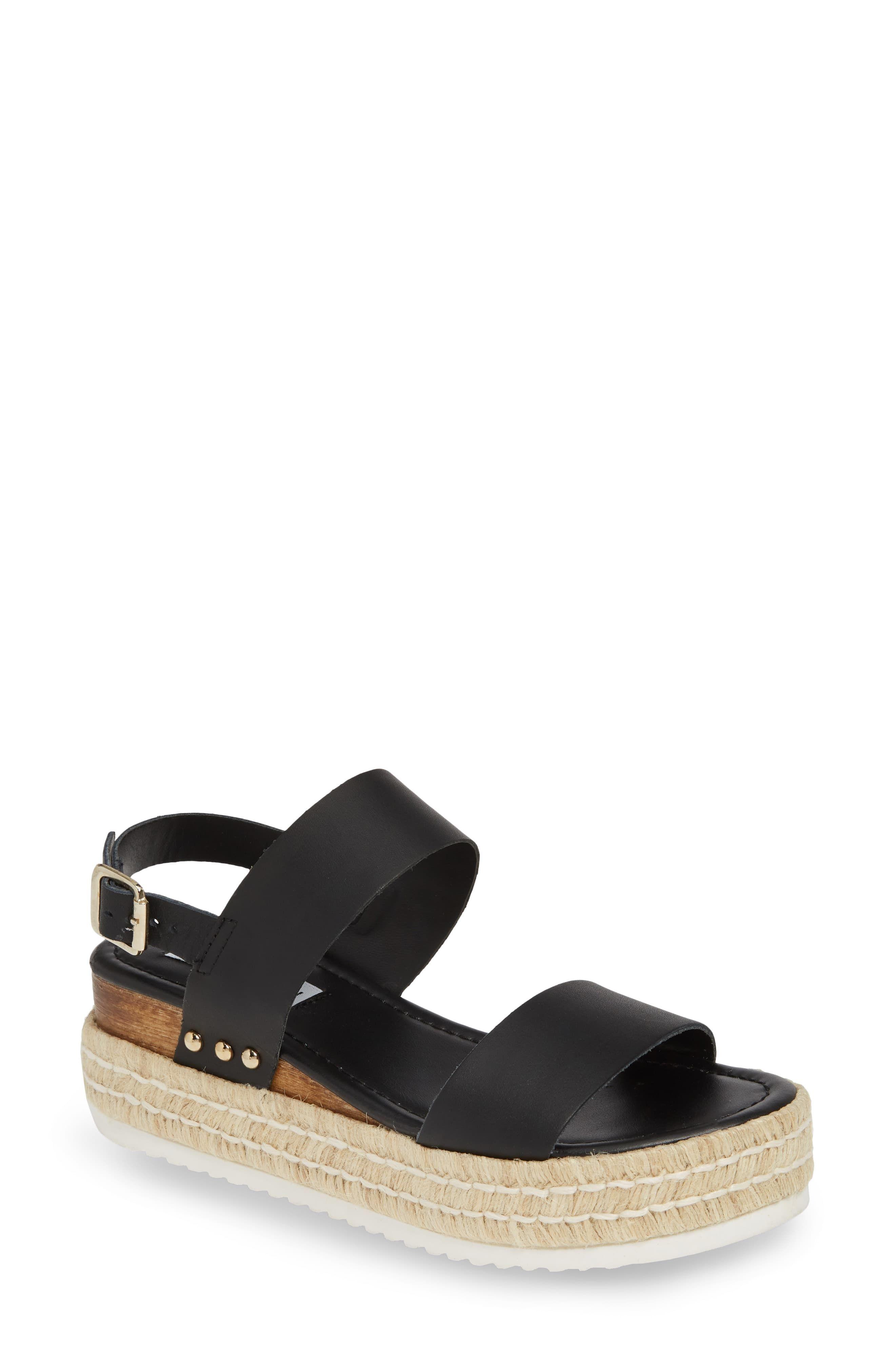 8ae1a1ad7735 Women's Steve Madden Catia Espadrille Sandal, Size 5.5 M - Black in ...