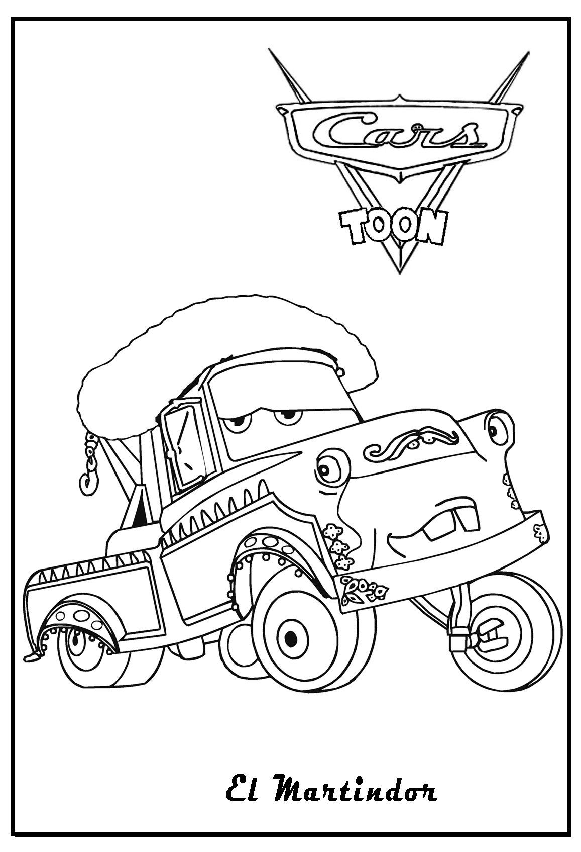 Cars 2 Printable Coloring Pages Cars Coloring El Materdor Cars Coloring Miles Axlerod Cars Coloring