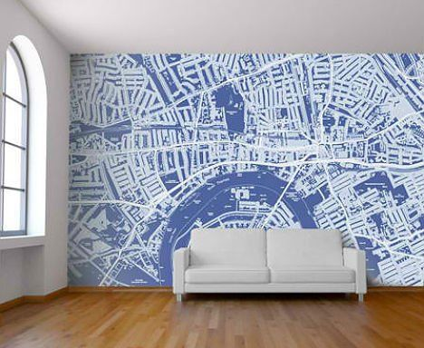 map wallpaper for walls  Customizable map wallpaper :D This would make a fantastic accent ...