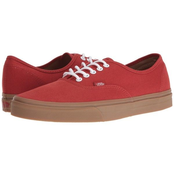 Vans Authentic ((Gumsole) Bossa Nova Light Gum) Skate Shoes ( 50) ❤ liked on  Polyvore featuring shoes 72d7be3af