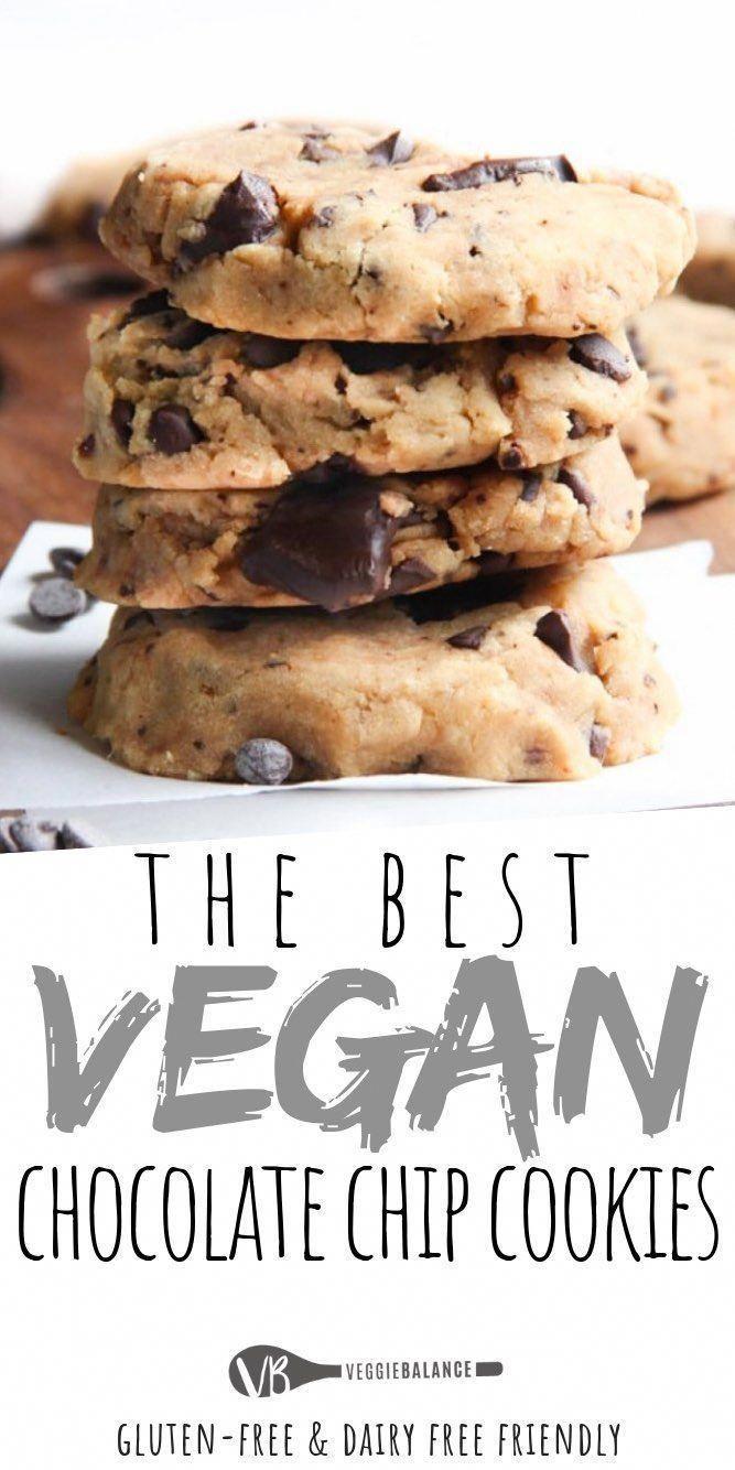 Vegan chocolate chip cookies recipe 7 easy ingredients turn into gooey moist amazing chocolate chip cookies everyone will love via veggiebalance