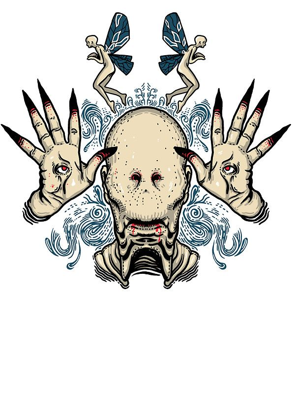 The pale man stickers by frederickjay redbubble