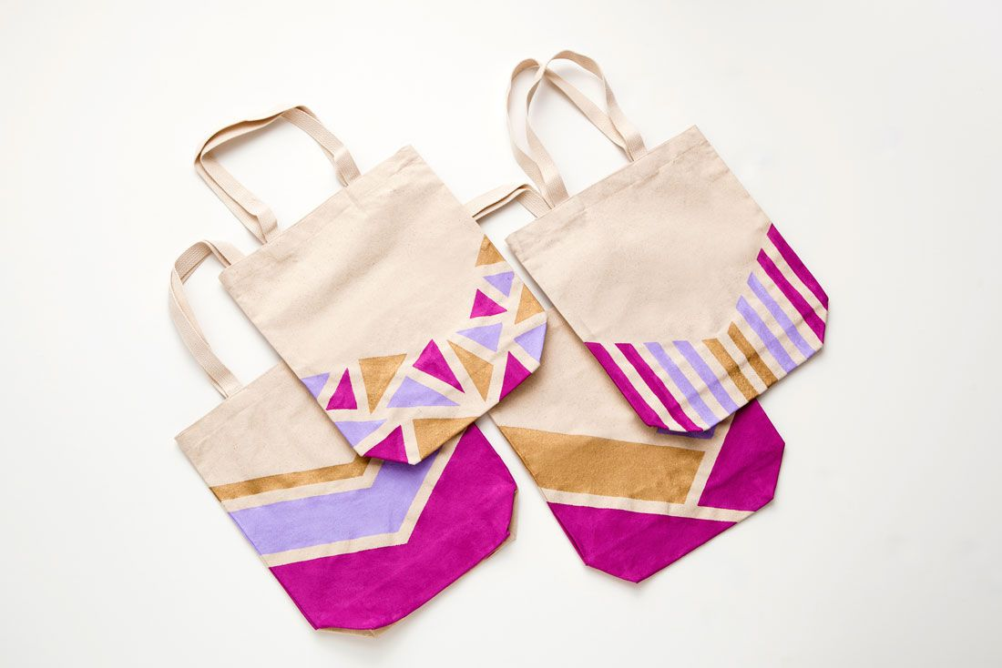 You Totes Need To Make This Springy Market Tote Painted Canvas