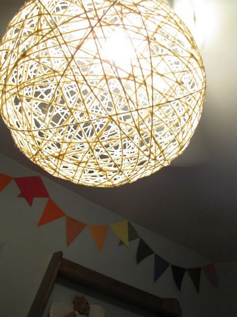 Light Shade Diy Love It On The Ceiling Fan So Creative I