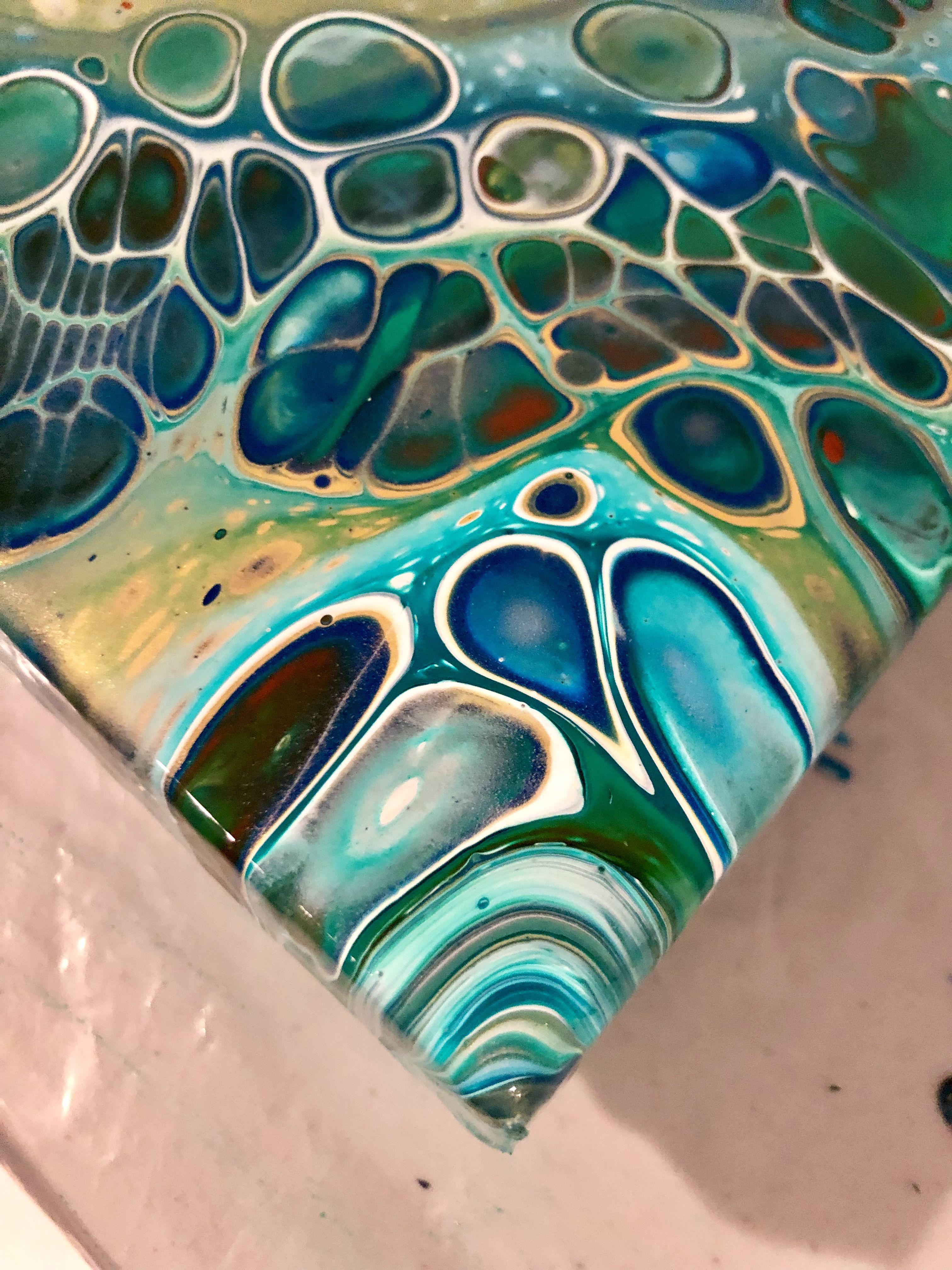 Teardrop Macro Shot Fluid Acrylic Painting By Waterfall Acrylics Acrylic Pouring Art Acrylic Art Fluid Acrylic Painting