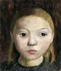 Paula Modersohn-Becker - Mädchenkopf, c.1905.