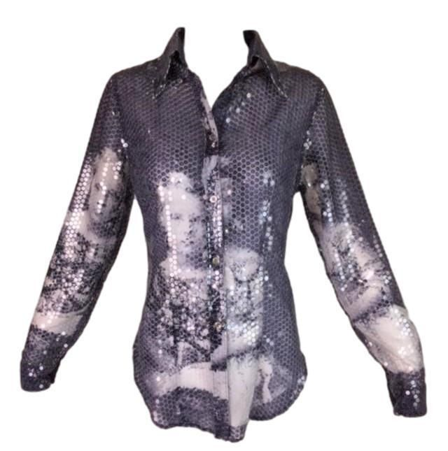 67d2b3ea5237 Vintage F/W 1998 Alexander McQueen 'Joan' Romanov Print Sequin Sheer Blouse  #fashion #clothing #shoes #accessories #womensclothing #tops (ebay link)