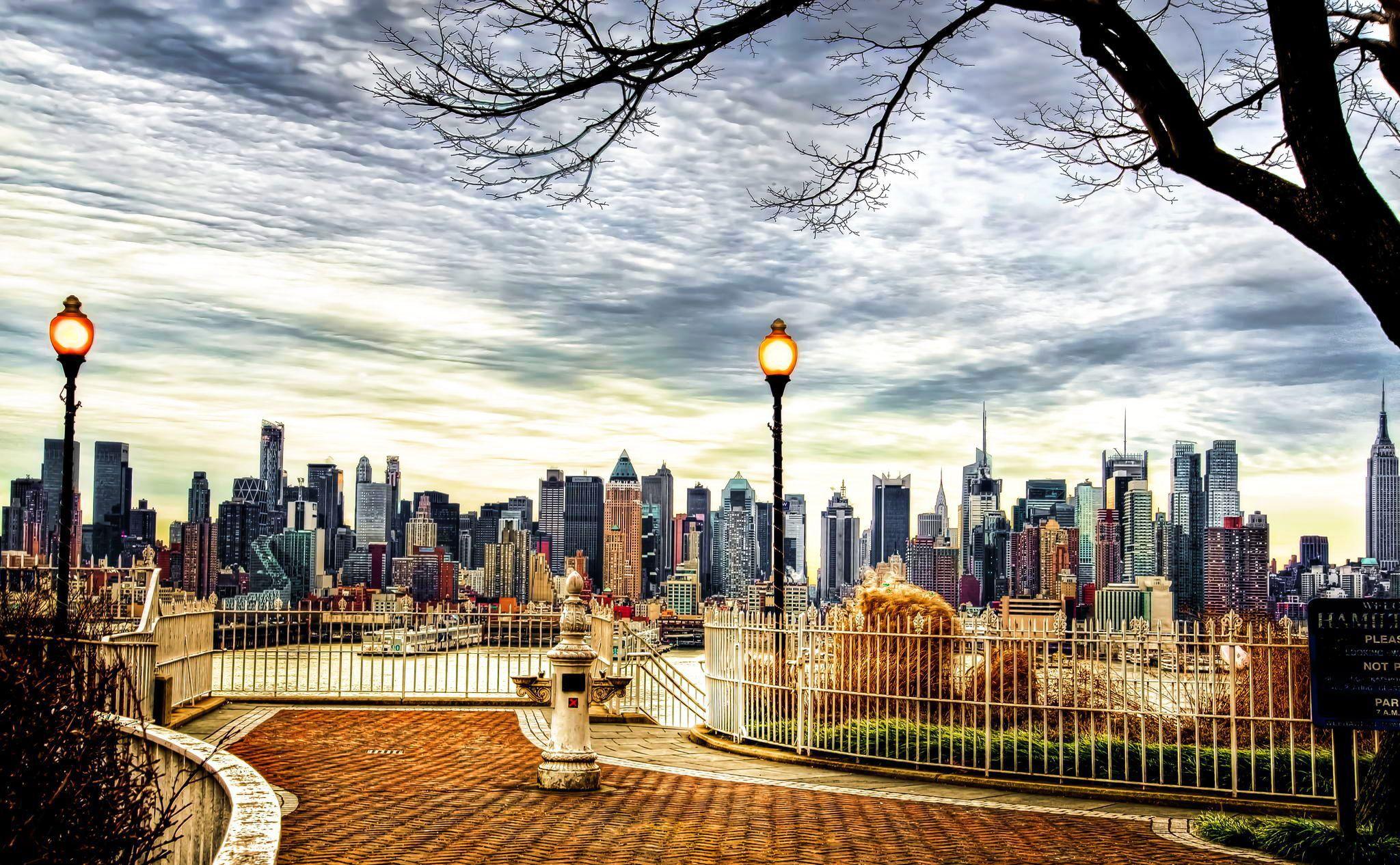 Обои горизонт, здание, new york, небоскребы. Города foto 13