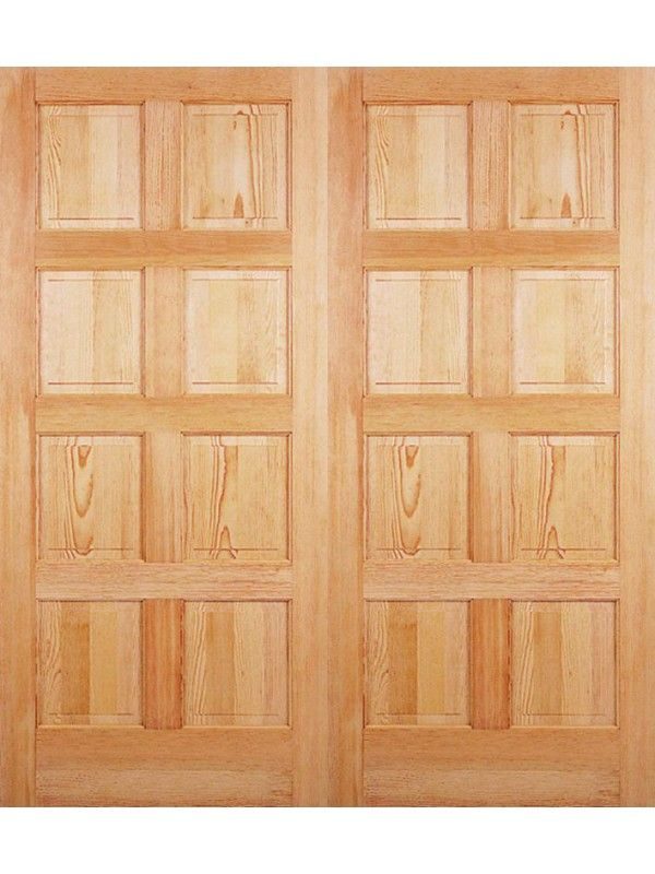 Exterior Double Door Exterior Fir 8 Panel Door 6 8 Height 1 3 4 Thick Double Door By Rouge Valley Doors