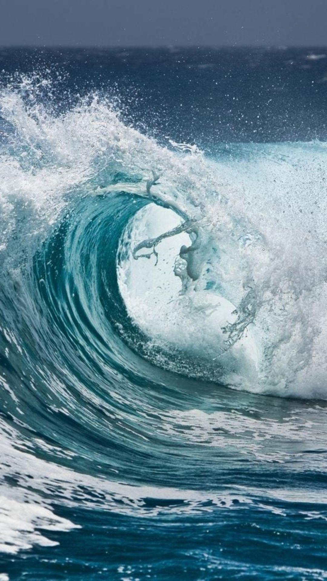 Nature Ocean Surging Wave Water Splash iPhone 7