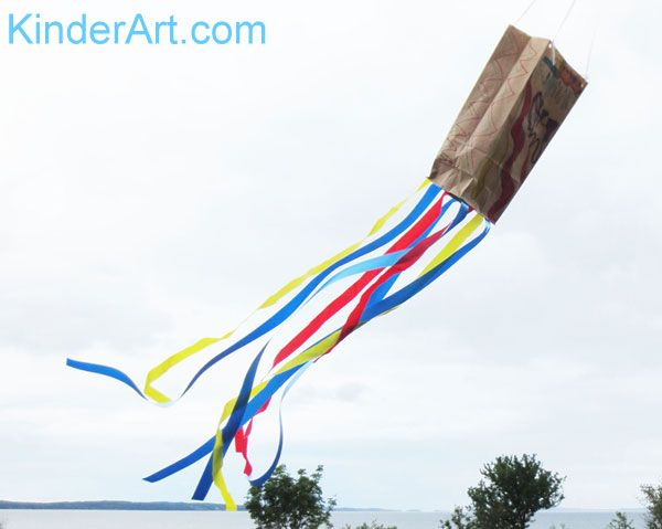 Paper Grocery Bag Kites: Crafts For Kids. Lessons And