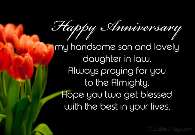 Anniversary Wishes For Son And Daughter In Law Wishesmsg In 2020 Happy Anniversary Quotes Happy Wedding Anniversary Wishes Wedding Anniversary Wishes