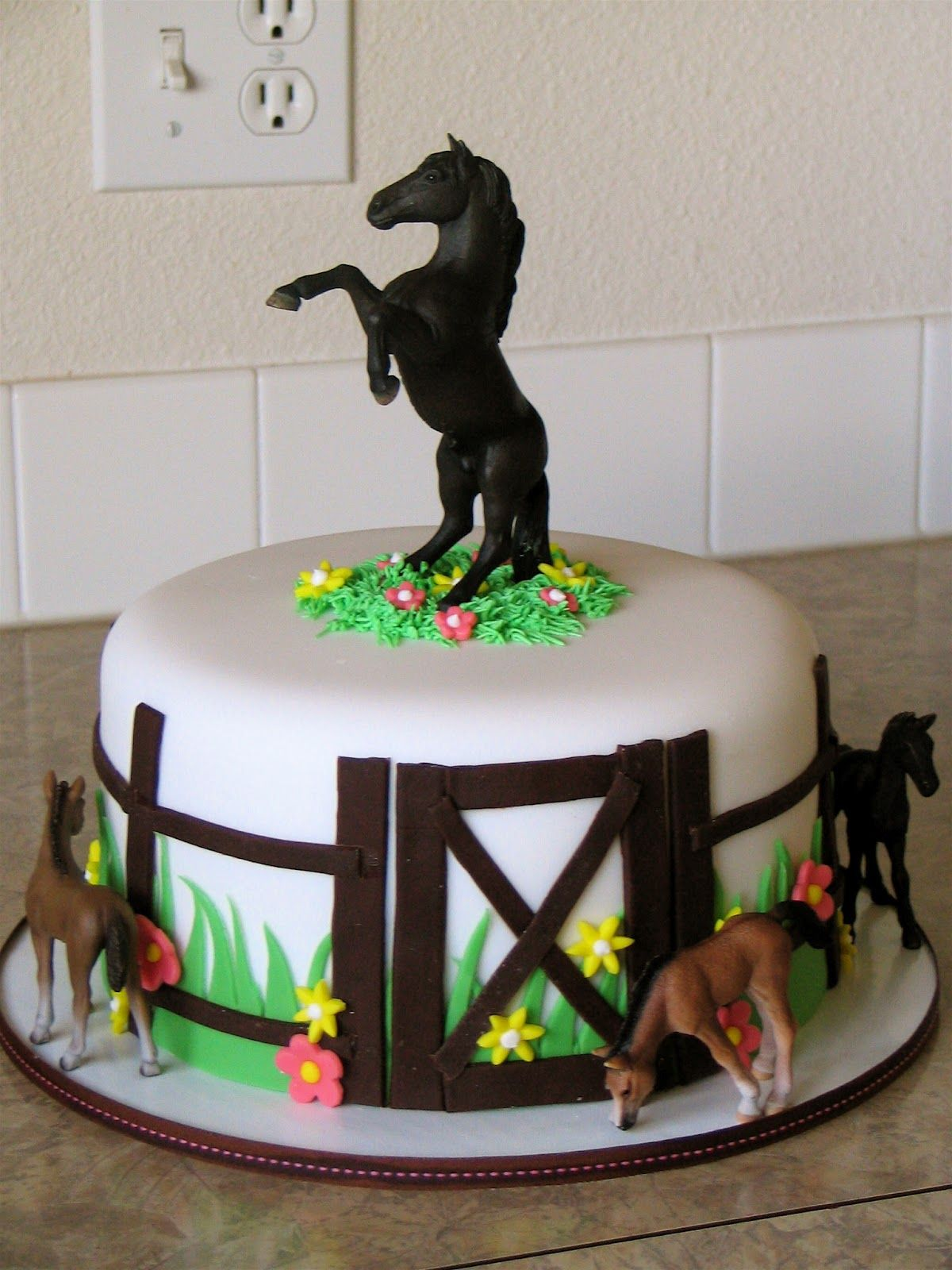 Horse Jumping Birthday Cake