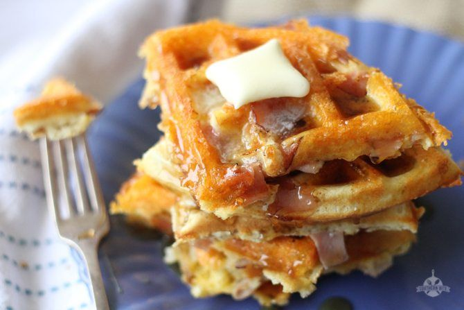 The Ham and Cheese Waffles are perfect for brinner or breakfast - or ANY meal for that matter!