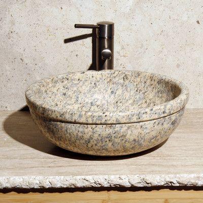 Allstone Group Vessel Sink Sink Finish: Mojave