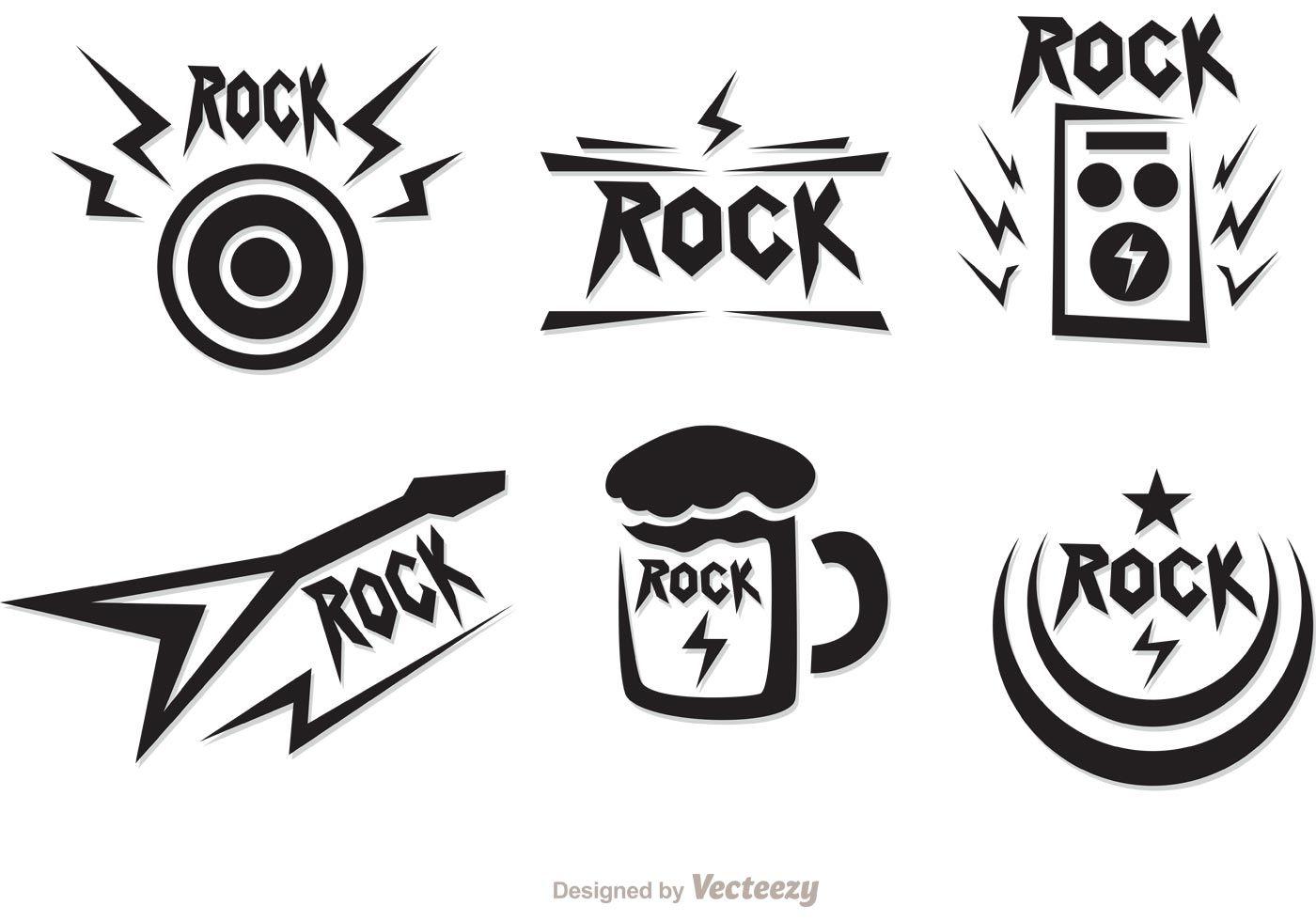 Rock music symbols vectors pack strike off pinterest music rock music symbols vectors pack biocorpaavc