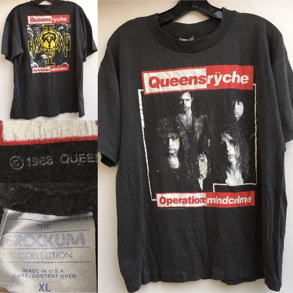 Vintage 80s QUEENSRYCHE Operation Mindcrime 1988 tour concert shirt