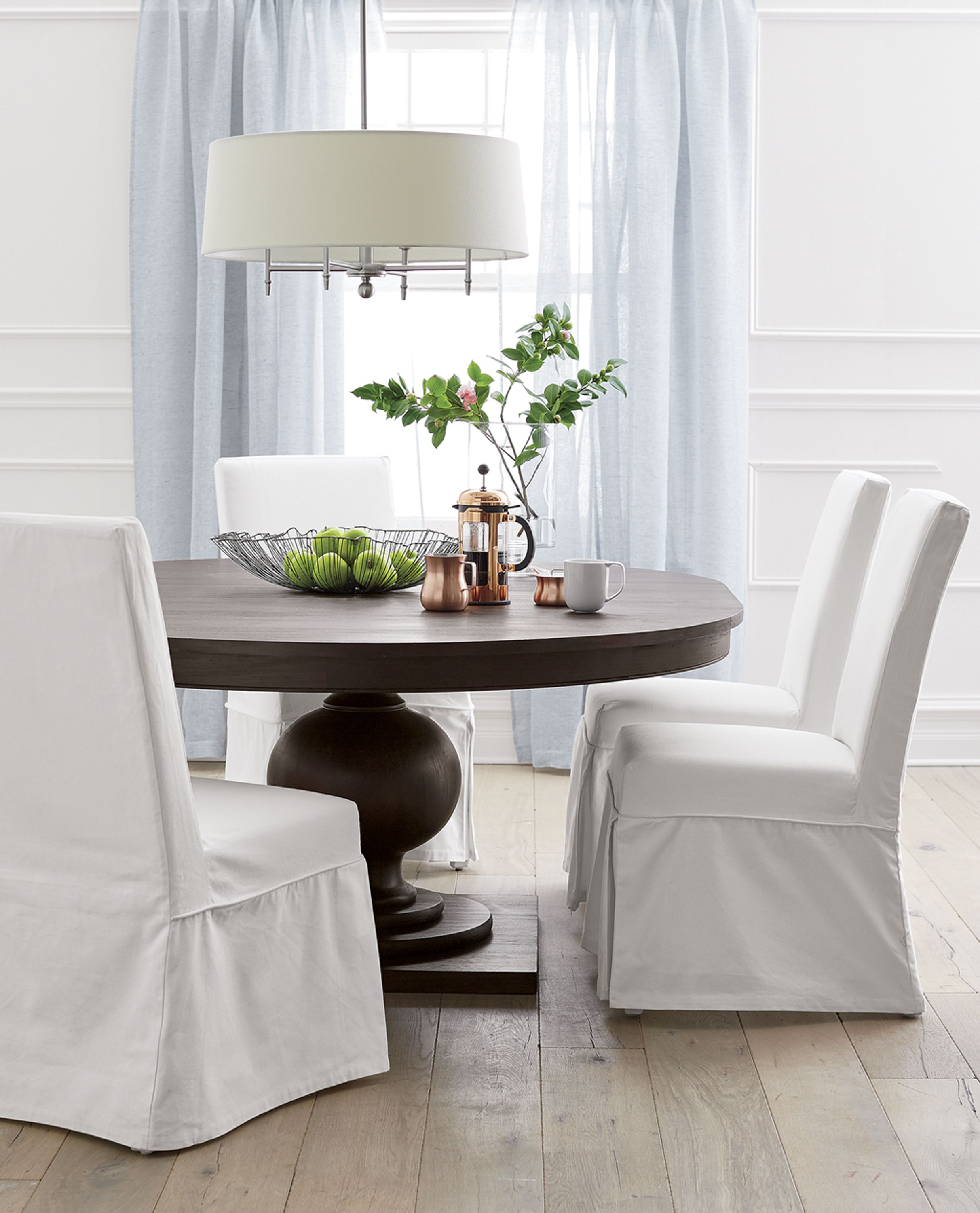 Slip White Slipcovered Dining Chair  Side Chair Room And Kitchen Alluring Slipcovered Dining Room Chairs Decorating Design