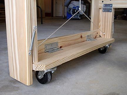 Flip up wheels for a rolling planer stand | Woodworking ...