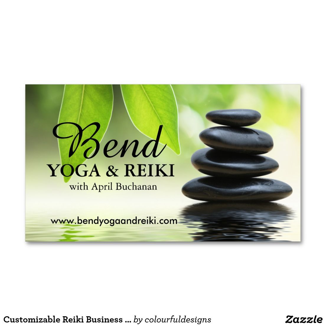 Customizable Reiki Business Cards | Meditation Business Cards ...