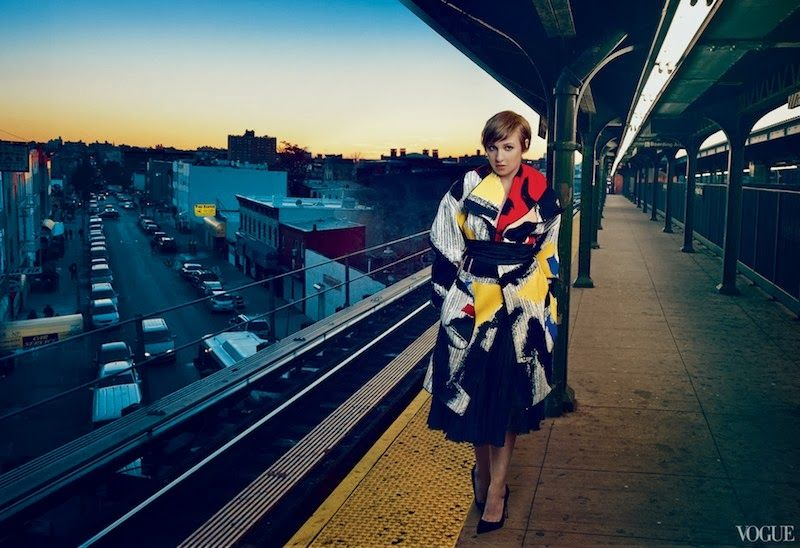 """""""Queen of Comedy"""": Lena Dunham of HBO's Girls by Annie Leibovitz for US Vogue February 2014"""