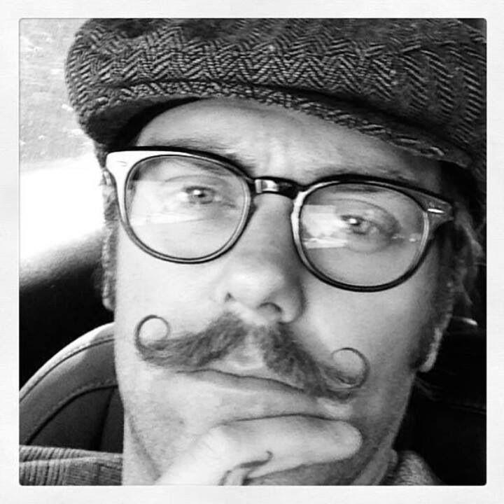 Handlebar Mustache And A Newsboy Cap. Freaking Adorable