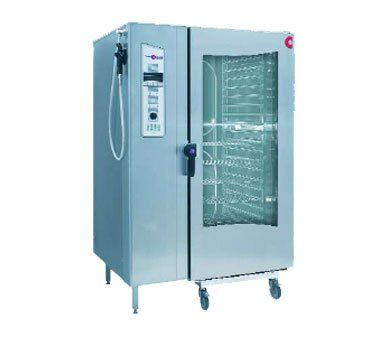 Good 208V 3 Phase Cleveland Convotherm OEB 20.20 Roll In Combi Oven Steamer With  Trolley