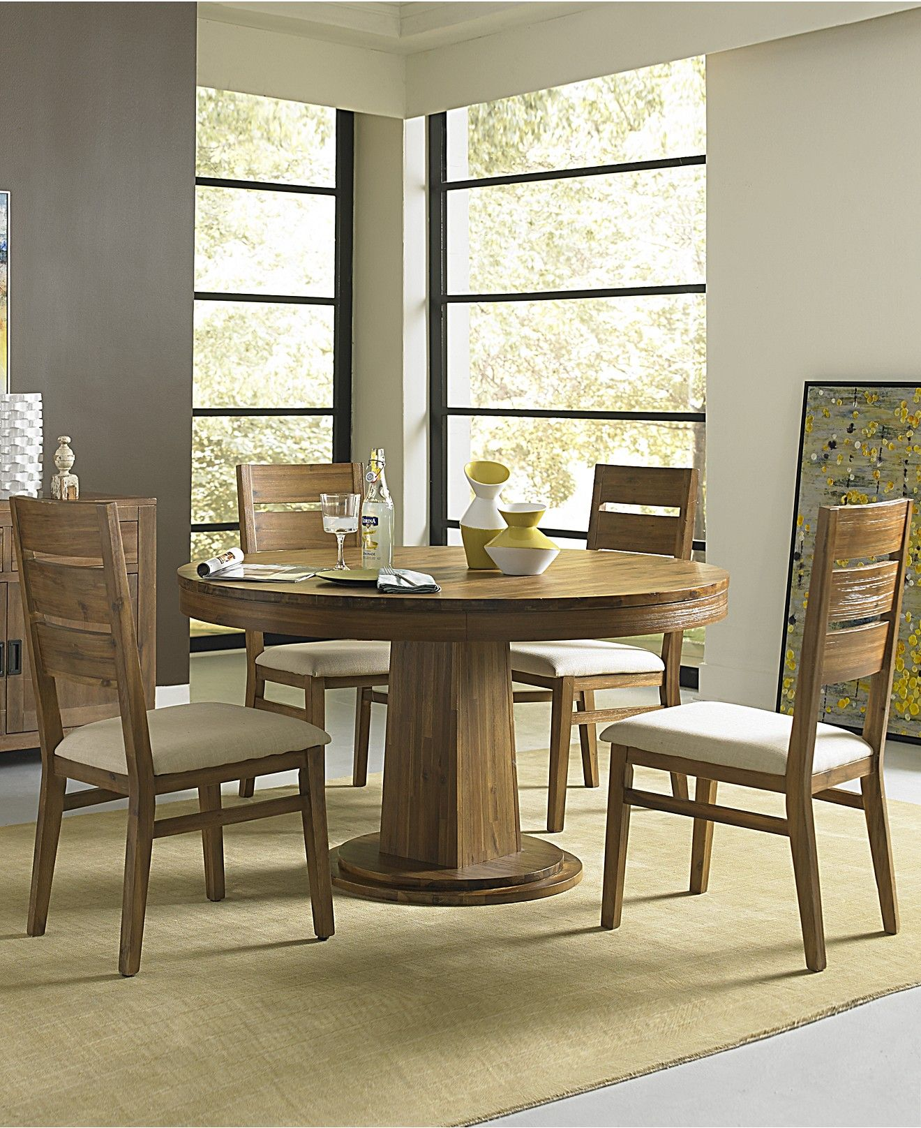 Champagne Round Dining Table Shop All Dining Room - Macy's champagne dining table