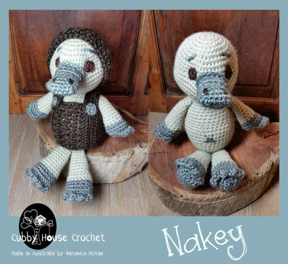 Nakey Platypus by Cubby House Crochet. Unique Amigurumi Christmas ...