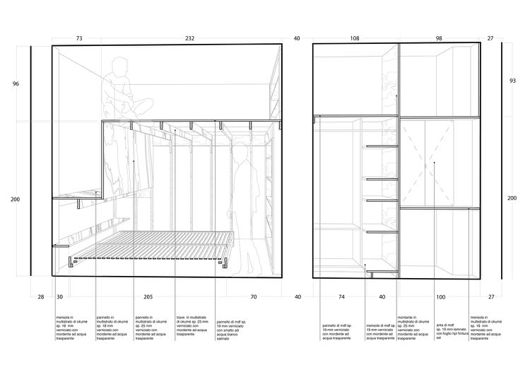 35 Quadratmeter Wohnung Grundriss Querschnitt Einbauschrank